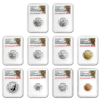 2018-S Silver Reverse Proof Set PF-70 NGC (Early Releases) - SKU#172293