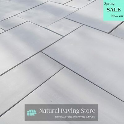 Sandstone Kandla Grey Sawn Honed Patio Indian natural Paving Slabs MIXED SIZES