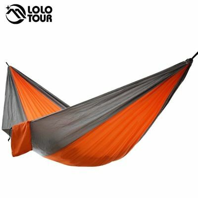 Single & Double Camping Hammock Lightweight Portable Parachute For Backpacking