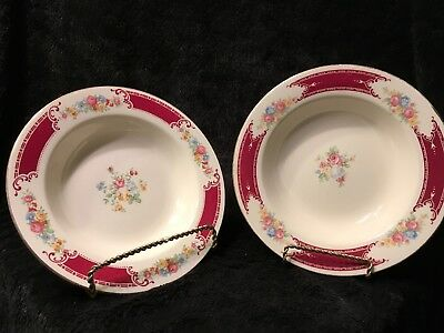 Homer Laughlin LADY ALICE (Two) Rimmed Soup Bowls