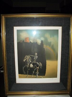 "Salvador Dali  Lithograph - Intimations Of Immortality Or ""horseman Of Death"""