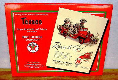 Texaco Pups Portfolio of Prints Edition II Fire House Collection 5 Prints