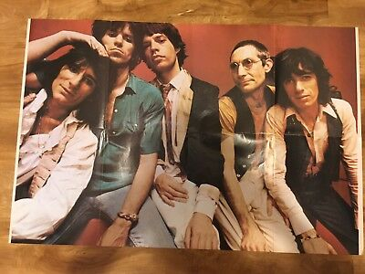 Vintage The Rolling Stones Mick Jagger Double Sided Pin Up Poster 21 x 32