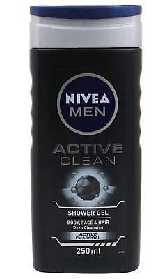 Nivea Men Active Clean Shower Gel Body Wash - 250 ml