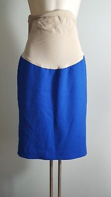 A Pea in the Pod Maternity Women's Skirt Size S Royal Blue Pencil Casual Career