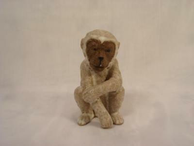 Vintage Ceramic Realistic Japanese Snow Monkey Made In Japan 3 Inches Tall