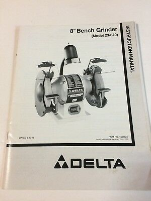 Delta Gr150 Grinder Owners Instruction Manual 1699 Picclick. Delta 23840 Grinder Owners Instruction Manual English Spanish. Wiring. Gr150 Delta Bench Grinder Wiring Diagram At Scoala.co