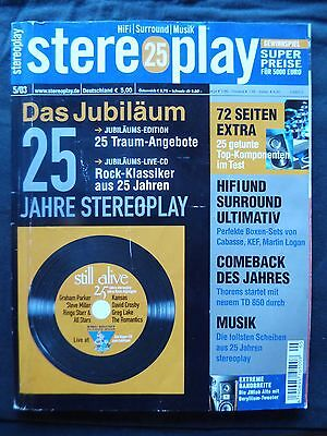 STEREOPLAY 5/03 JVC TH A 75 R,PANASONIC SC DT 300,PHILIPS lX 8000 SA,SONY S 880