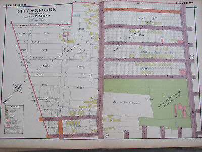 ANTIQUE 1926 ATLAS Map Of Newark New Jersey Ward 9 St. Peter's Orphan on norfolk va ward map, newark path station, providence ri ward map, newark tx map, newport ri ward map, chicago tribune ward map, houston tx ward map, city of chicago ward map, paterson new jersey on a map, newark neighborhoods, buffalo ny ward map, newark ward boundaries, las vegas nv ward map, newark ny mapquest, charleston sc ward map, paterson 4th ward map, newark uk map, newark performing arts center, newark new jersey, harrisburg pa ward map,