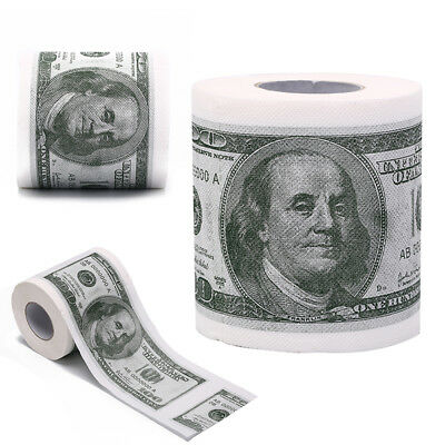 Novelty Euro Bank Note Joke Funny Money Currency Toilet Tissue Paper Roll HT