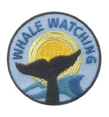 GIRL BOY CUB WHALE WATCHING Fun Patches Crests Badges GUIDES SCOUTS Watch  trip
