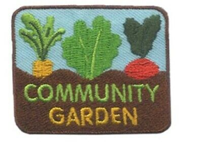 OFFICIAL GIRL SCOUTS COMMUNITY GARDEN Fun Patches Crests Badges GUIDE Tour Visit