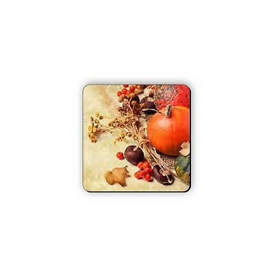 Fall Harvest Autumn Rubber Drink Coaster