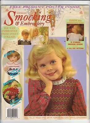 Australian Smocking & Embroidery - Issue No 21 - Winter 1992 - Very Rare