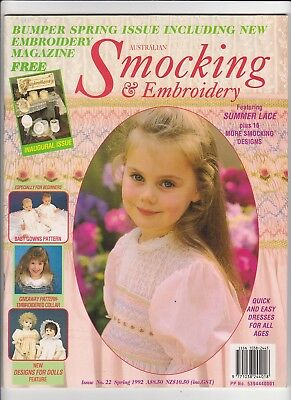 Australian Smocking & Embroidery - Issue No 22 - Spring 1992 - Very Rare