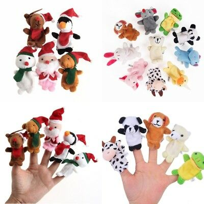 1~10Pcs Cute Animal Finger Puppets Educational Children Kids Story Time Play Toy