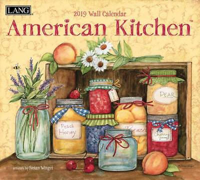 2019 Lang Calendar AMERICAN KITCHEN New Calender Fits Wall Frame Free Post