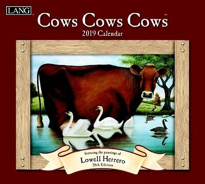 2019 Lang Calendar COWS COWS COWS New Calender Fits Wall Frame Free Post