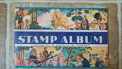 1937 AMOCO AMERICAN OIL COMPANY HISTORICAL STAMP ALBUM Advertising Giveaway