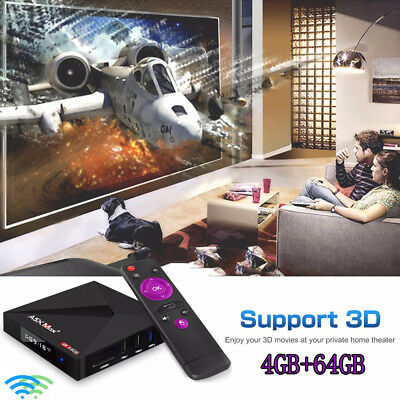 A5X MAX+ TV Box Rockchip 3328 Android 8.1 64GB ROM Dual WiFi BT4.1 Support 4K