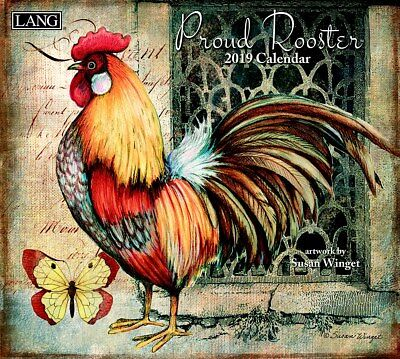 2019 Lang Calendar PROUD ROOSTER New Calender Fits Wall Frame Free Post