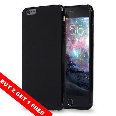 For iPhone 6s 6 Case Black Ultra Thin Jelly TPU Silicone Rubber Shockproof Cover