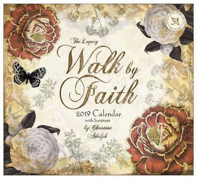 2019 Legacy Calendar WALK BY FAITH New Calender Fits Wall Frame New Post