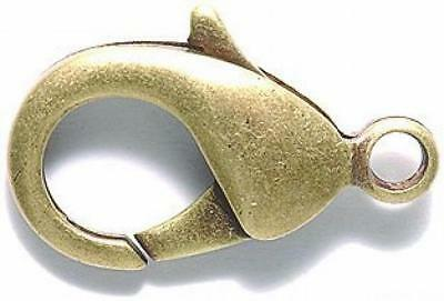 Shipwreck Beads Electroplated Brass Lobster Clasp, 27 by 17mm, Metallic,...