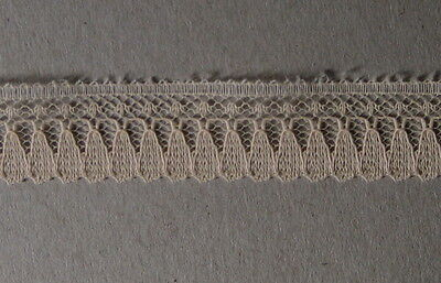CRAFT-SEWING 15mm Beige/Flesh TeardropDesign Soft Lace (mtr varieties available)
