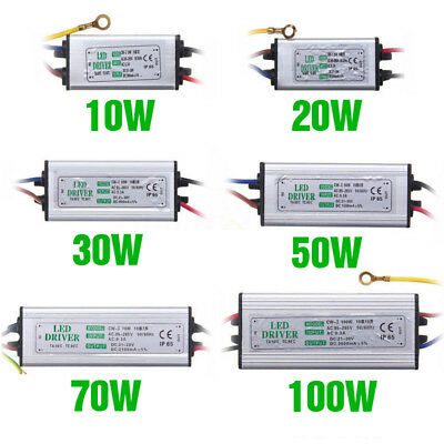 10W20W30W50W70W100W LED Driver Power Supply Waterproof For loodlight 1-10 Piece
