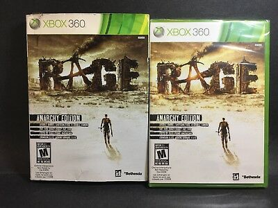 Factory Sealed RAGE Anarchy Edition XBOX 360 + Sleeve + free shipping NTSC U/C