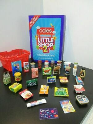 Coles Little Shop Mini Collectables - INDIVIDUALLY PRICED - Best Priced Sale