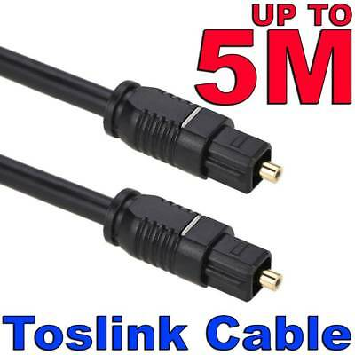 Ultra Premium Gold Toslink Optical Fibre Digital Audio Cable Lead Cord S/PDIF