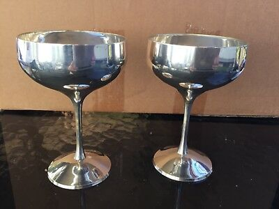 Aarti goblets silver x 2 EPNS A&C in Great Condition
