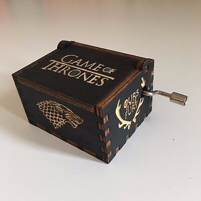 Game of Thrones Music Box Hand-Cranked Toys Xmas Gifts Engraved Wooden Music Box
