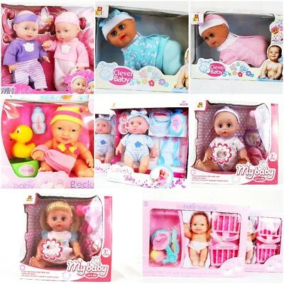 Baby Dolls Baby Sets His/her With Accessories And Outfits Learning New Born Gift