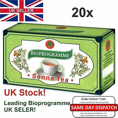 20 x Boxes SENNA TEA Natural product/Colon Cleansing/Laxative/Detox/Weight Loss