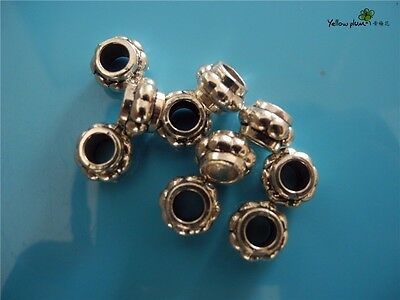 10 PCs Tibetan Carved Silver Metal Beads Set - Dreadlock Beads dread beads A13