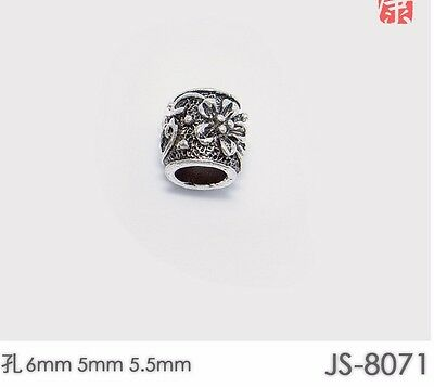 10 PCs Tibetan Silver Metal Beads Set Dreadlock Beads dread beads 6mm hole B04