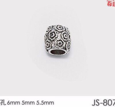 10 PCs Tibetan Silver Metal Beads Set Dreadlock Beads dread beads 6mm hole B03