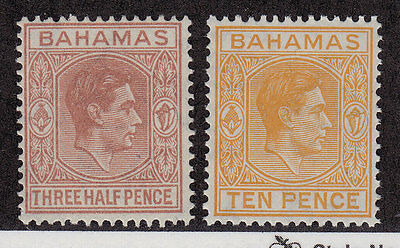 BAHAMAS MLH Scott # 102, 109 King George VI (2 Stamps) -9
