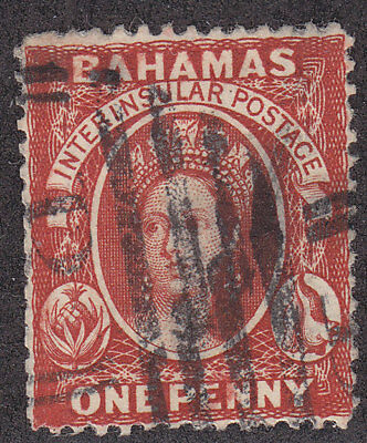 BAHAMAS Used Scott # 16 or 20 Queen Victoria Perf 14 (1 Stamp) -2