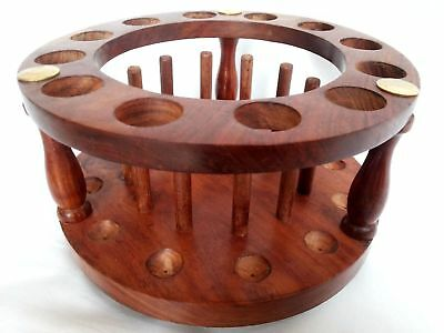 Test Tube Stand Round Wooden Row Tier With Drying Rack Useful