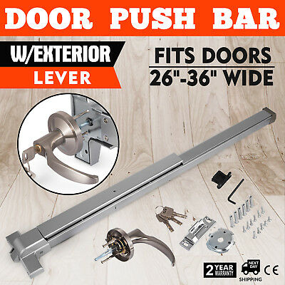Door Push Bar-Panic Exit Device Lock With Handle Emergency Dogging Feature