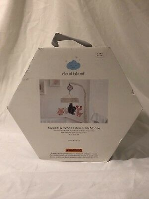 Cloud Island Musical and white noise baby Crib mobile with Forest Animals New
