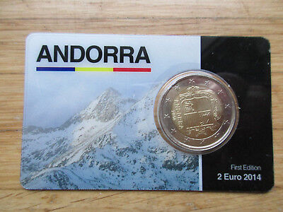 2€ Andorra First - Limited Edition 500 pieces, 2014 Coincard