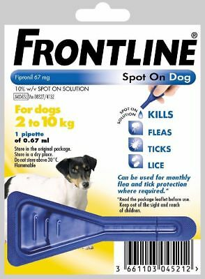 Frontline Spot On Flea Treatment For Small Dogs 2-10Kg 1 Treatment