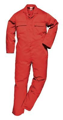Portwest Stud Front Boilersuit Boiler Suit Mechanics Work Coverall - 4 Colours