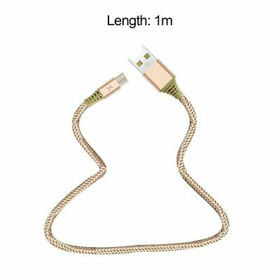 2.1A Nylon Braided Wire Metal Plug Data Sync Cable Micro USB Cable Golr