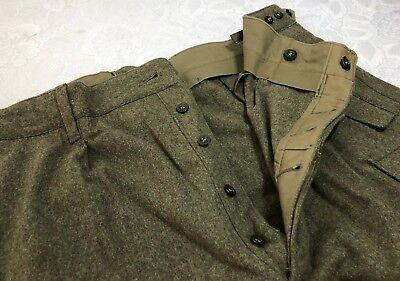 VTG 1967 Schilling Reichartshausen Wool Military Cargo Hunting Pants Mens 44x30